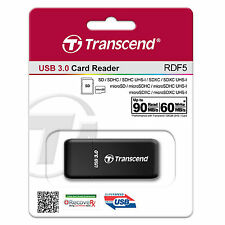 Transcend RDF5K USB3.0 High Speed Card Reader SD SDHC/XC microSD microSDHC Black