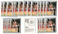 (x100) 1998-99 Upper Deck MICHAEL JORDAN #49 Basketball sticker card lot/set MJ!