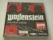 !!! PLAYSTATION PS3 SPIEL Wolfenstein The new Order USK18 GUT !!!