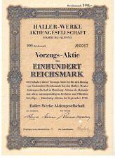 Haller - Werke AG Hamburg Altona 1940