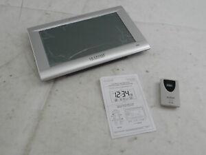 La Crosse Technology 513-1311OT - Jumbo Atomic Digital Wall Clock, Silver