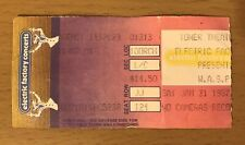 1987 W.A.S.P. Slayer Raven Philadelphia Concert Ticket Stub Reign In Blood Tour