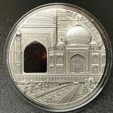 "Palau 2014 Mineral Art ""Taj Mahal""  2 oz Antique Finish Silver Coin."