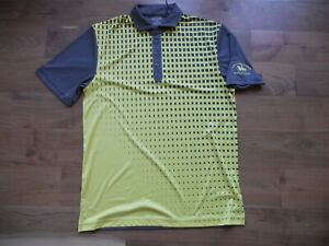 NWT Ogio Golf Shirt Polo Gray/Yellow Los Caballeros Golf Club Size M