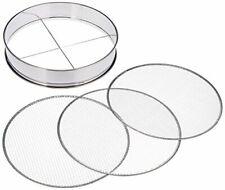 Soil Sieve Coarse Medium Fine set 370mm Stainless Steel Bonsai Mesh Filter JAPAN