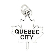 Sterling Silver Quebec City Canada Charm