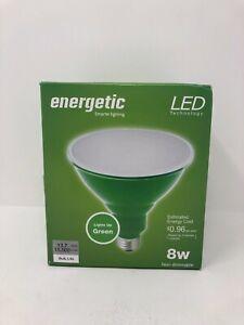 Energetic 85-Watt EQ PAR38 Green Decorative Light Bulb