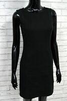 Vestito Nero Donna CALVIN KLEIN Taglia S Abito Tubino Slim Dress Woman Black