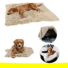 Fluffy Long Plush Pet Blankets Dog Cat Bed Mats Deep Sleeping Soft Comfortable