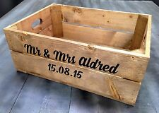 Personalised Rustic Wooden Shallow Apple Crate Box