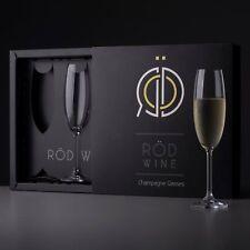 Champagne Glasses Set - Lead Free Titanium Crystal Sparkling Wine Glass, 7.5 oz.