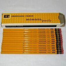 Vintage Box of 12 Eberhard Faber Mongol No 3 Pencils Unsharpened 482