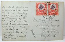 Postcard Mollendo, Peru; Postmark 1909; Addressed to Swansea, Wales; M. Grau