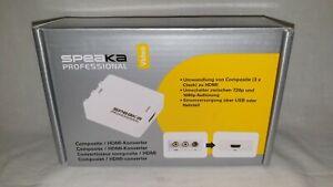 SpeaKa Professional AV Konverter [Composite Cinch - HDMI] 1920 x 1080 Pixel