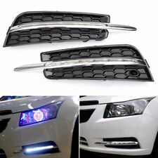 Pair Front Bumper LED Daytime Running Light DRL Fog Lamps For Chevy Cruze 09-14
