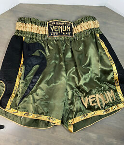 Venum Thai Shorts Size XL Green Gold Black New Without Tags