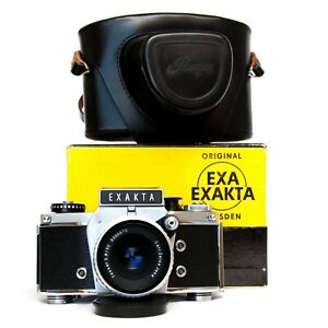 ⭐NEW⭐ Serviced Exakta VX1000 35mm German Ihagee Camera Tessar 50mm f/2.8 Lens