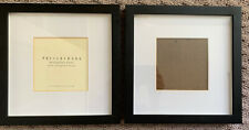 Lot Of 2 Pottery Barn Wood Gallery Frame Black 5 X 5 Photos 10 X 10 Square EUC