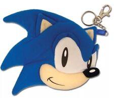 SEGA Sonic The Hedgehog Plush Coin Purse Keychain Key Chain Nintendo License New