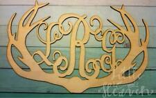 """28"""" Wooden Vine Letter Deer Antlers 28 inch antler Monogram 3 letter custom"""