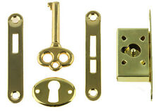 B361 Gold Plated Full Mortise Jewelry Box Lock Set & Key, Humidors, Music Boxes