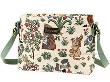 Signare Ladies Woven Tapestry Across Body Shoulder Bag - Alice In Wonderland