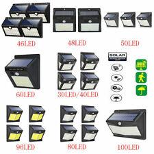 Solar Power PIR Motion Sensor LED Light Outdoor Waterproof Garden Yard Wall Lamp