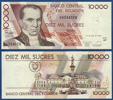 Ecuador 10.000 sucres 12.7.1999 UNC p.127