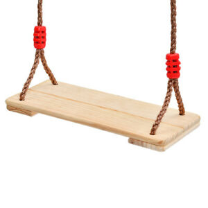 Wooden Monkey Swing Seat and Rope Kids Climbing Frame Tree House Garden Play Toy