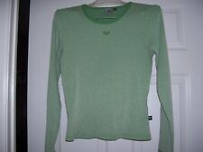 Girls Roxy shirt in size XL, green and white, great shape.