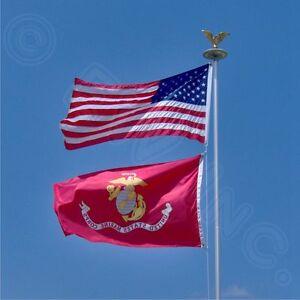 Wholesale LOT 3X5FT New USA AMERICAN & US MARINE CORPS EAGLE GLOBE ANCHOR FLAG