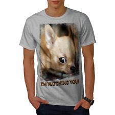 Wellcoda Chihuahua visage mignon femme t-shirt à manches longues Prestige Casual Design