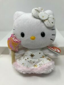 """Ty Beanie Babies Hello Kitty Fairy with Star Wand  6"""" Plush NWT New Old Stock"""