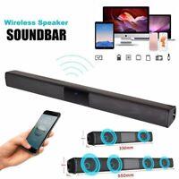 Wireless Sound Bar TV Soundbar Bluetooth Speaker Theater Stereo Subwoofer Home