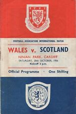 Oct 56 Wales v Scotland