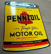 Pennzoil can Oil gas Gasoline Porcelain Advertising Sign