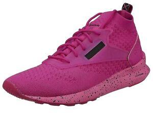 Reebok Women's Zoku Runner Ultraknit IS Knit Gym Trainers Shoes Sneakers Pink