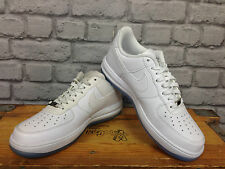 NIKE UK 4 EU 36.5 LUNAR FORCE 1 LOW WHITE TRAINERS LEATHER CHILDRENS YOUTH LADIE