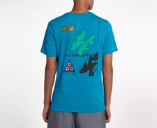 Nike Acg All Conditions Gear Men T-Shirt Blue Turquoise Ar0019 425