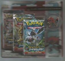 Pokemon XY Breakthrough Zoroark 3-Pack Blister with Pin