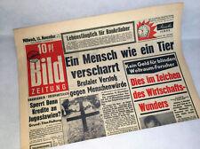 Bild Zeitung vom 13.11.1957 Bildzeitung * Geschenk * 59. 60. 61. 62. Geburtstag