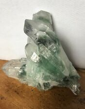 UK NEW NATURAL TIBETAN GREEN PHANTOM QUARTZ CRYSTAL CLUSTER POINT 95 GRAMS