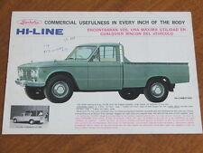 c1965 Daihatsu Hi-Line Ute original single page brochure - Acceptable