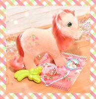 ❤️My Little Pony MLP G1 Vtg So Soft Ponies Flocked Cherries Jubilee & Brush❤️