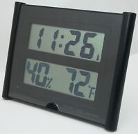 NEW Atomic Time ET-31U Wall Clock Weather Station Digital Temperature Large Font