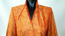 Eleganter Seiden-Blazer, Gr. 38, tailliert, Orangefarben, von URSULA BRINKMANN