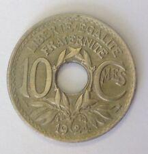 10 Centimes 1924 Poissy Rare Qualité