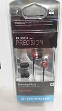 Sennheiser CX300 Precision Bass Noise Isolating Earbud Earphones Headphones RED