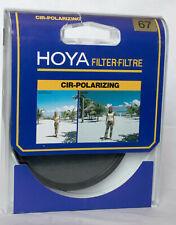 Hoya 67mm circular polarizing filter in case.