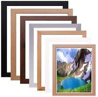 Flat Picture Frame Wood Poster Frame Photo Frame All Sizes Black Oak Pine White
